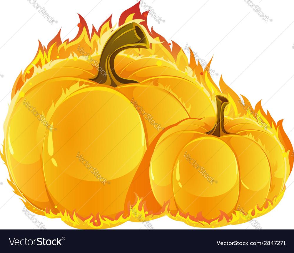 Burning pumpkins vector | Price: 1 Credit (USD $1)