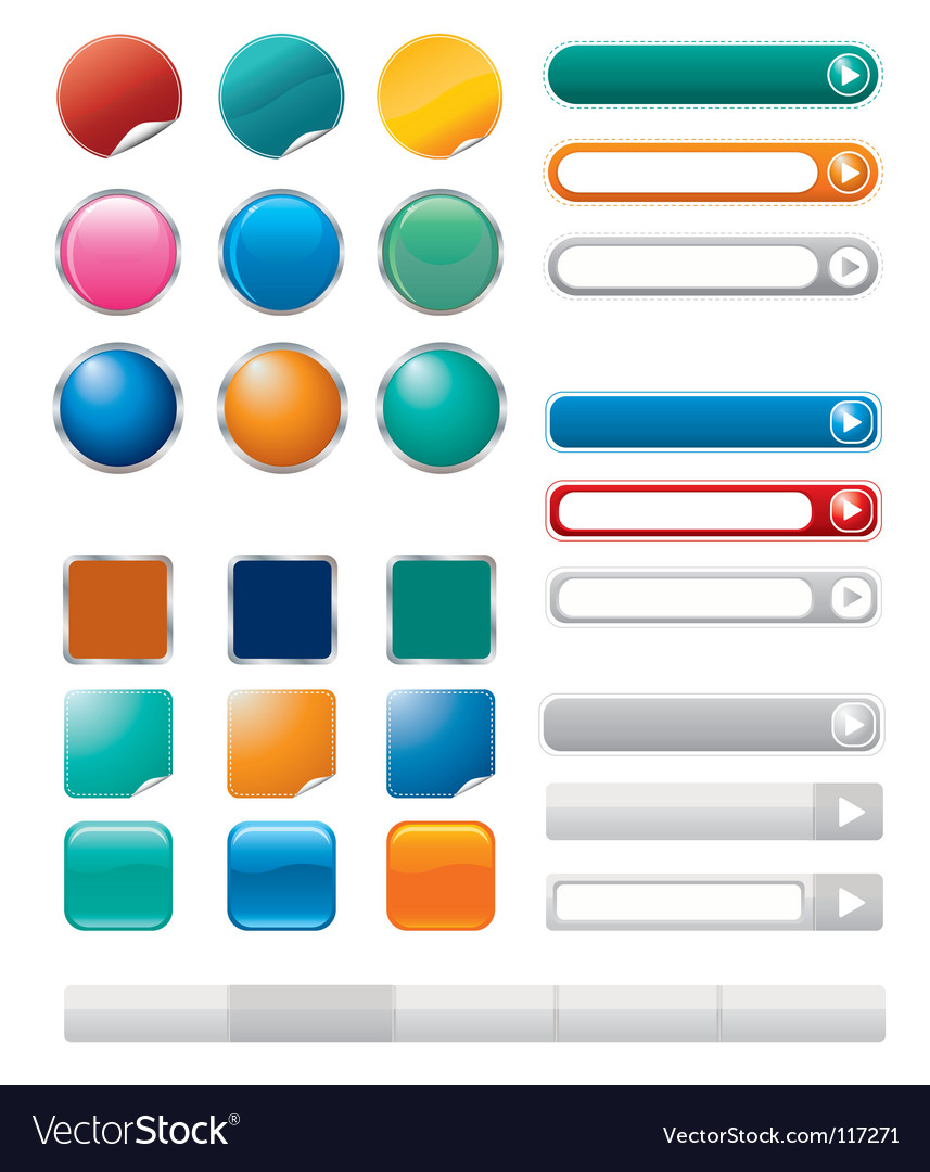 Buttons for internet vector | Price: 1 Credit (USD $1)