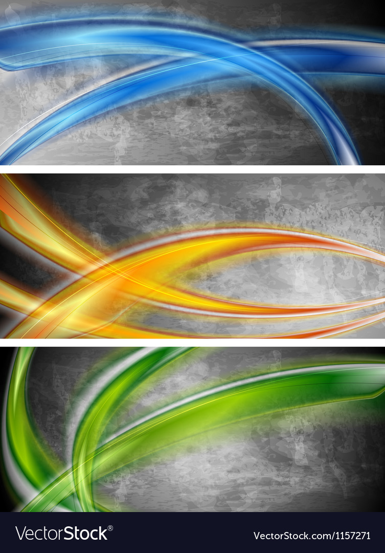 Colourful waves banners vector   Price: 1 Credit (USD $1)