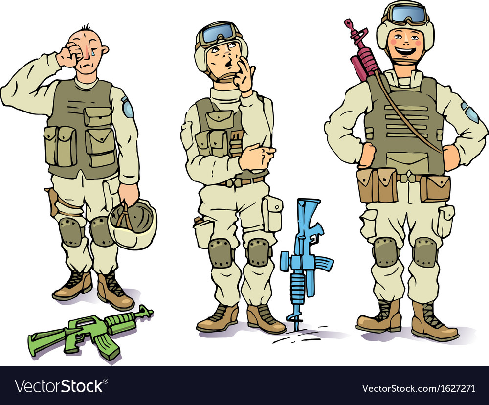 There soldiers vector | Price: 1 Credit (USD $1)