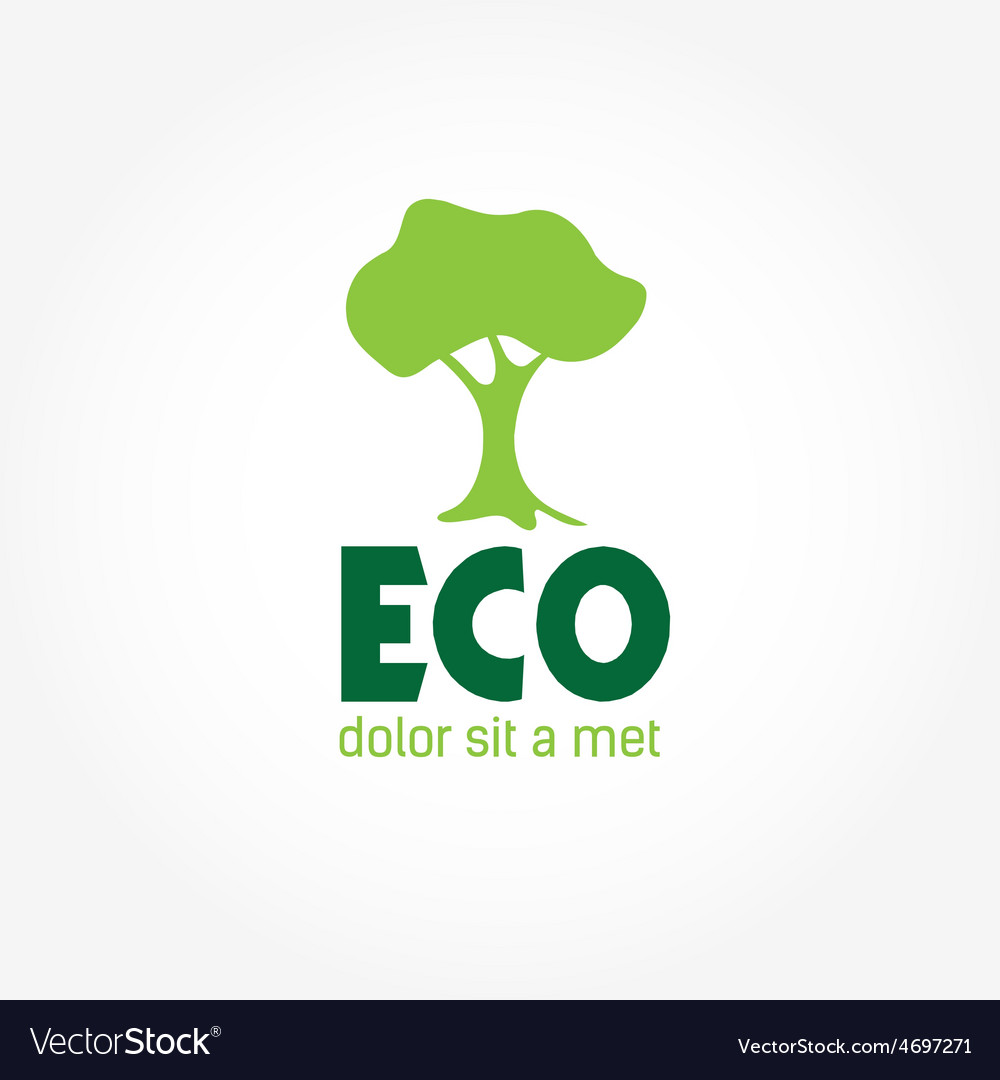 Eco tree vector | Price: 1 Credit (USD $1)
