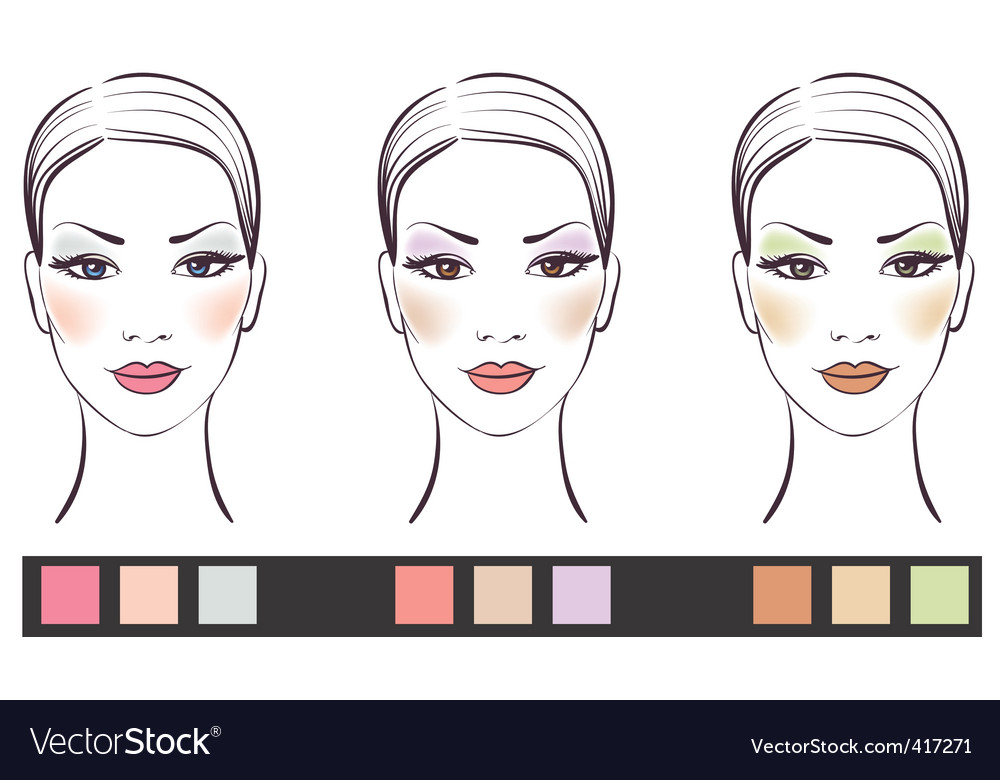 Girl's face with makeup vector | Price: 1 Credit (USD $1)