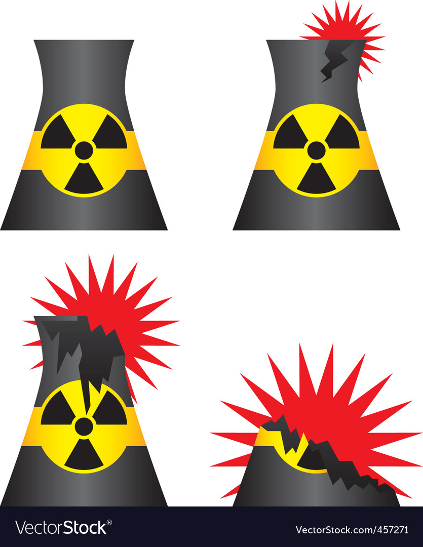 Nuclear power plant meltdown vector | Price: 1 Credit (USD $1)