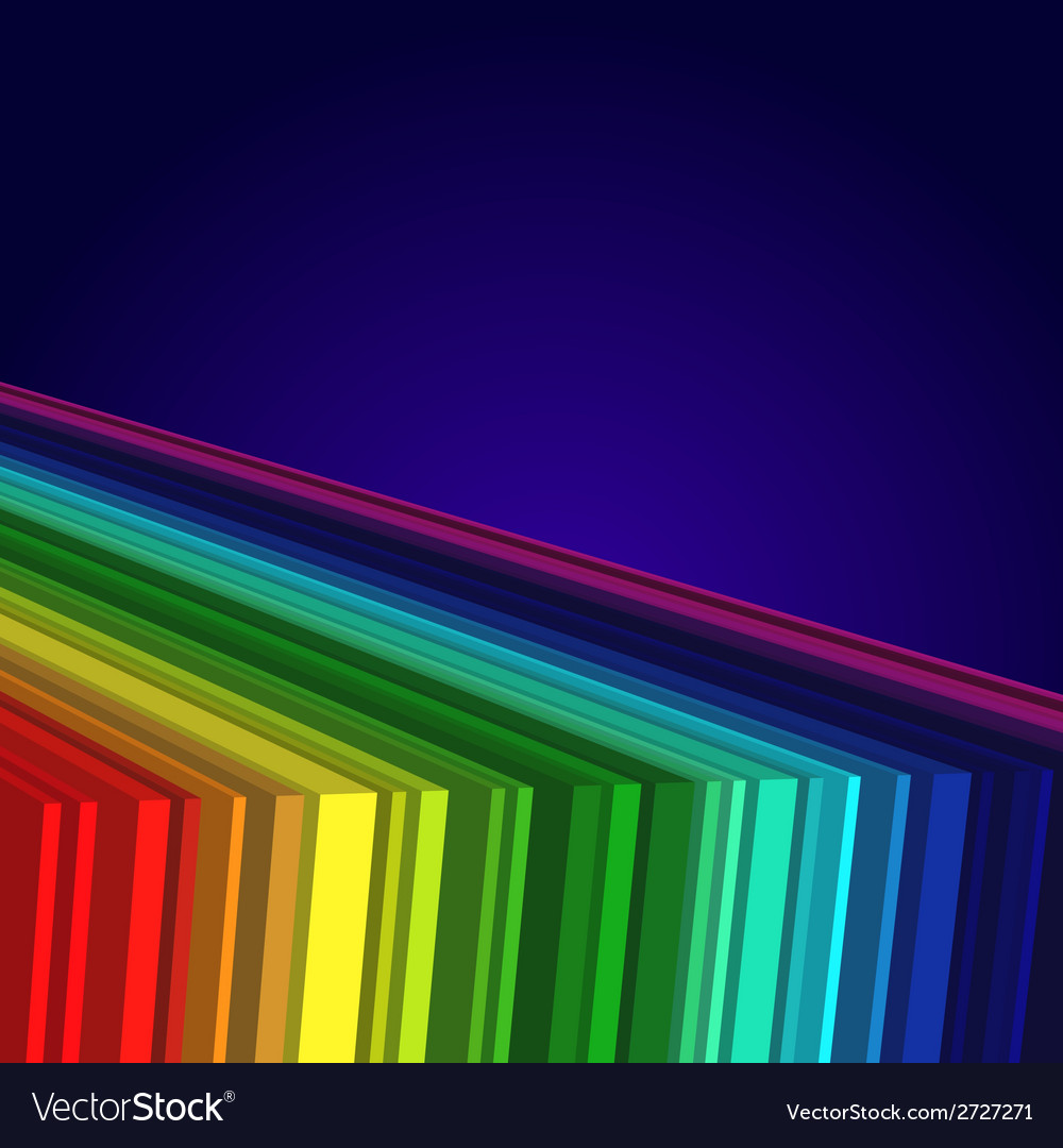 Rainbow colored 3d barcode background vector | Price: 1 Credit (USD $1)