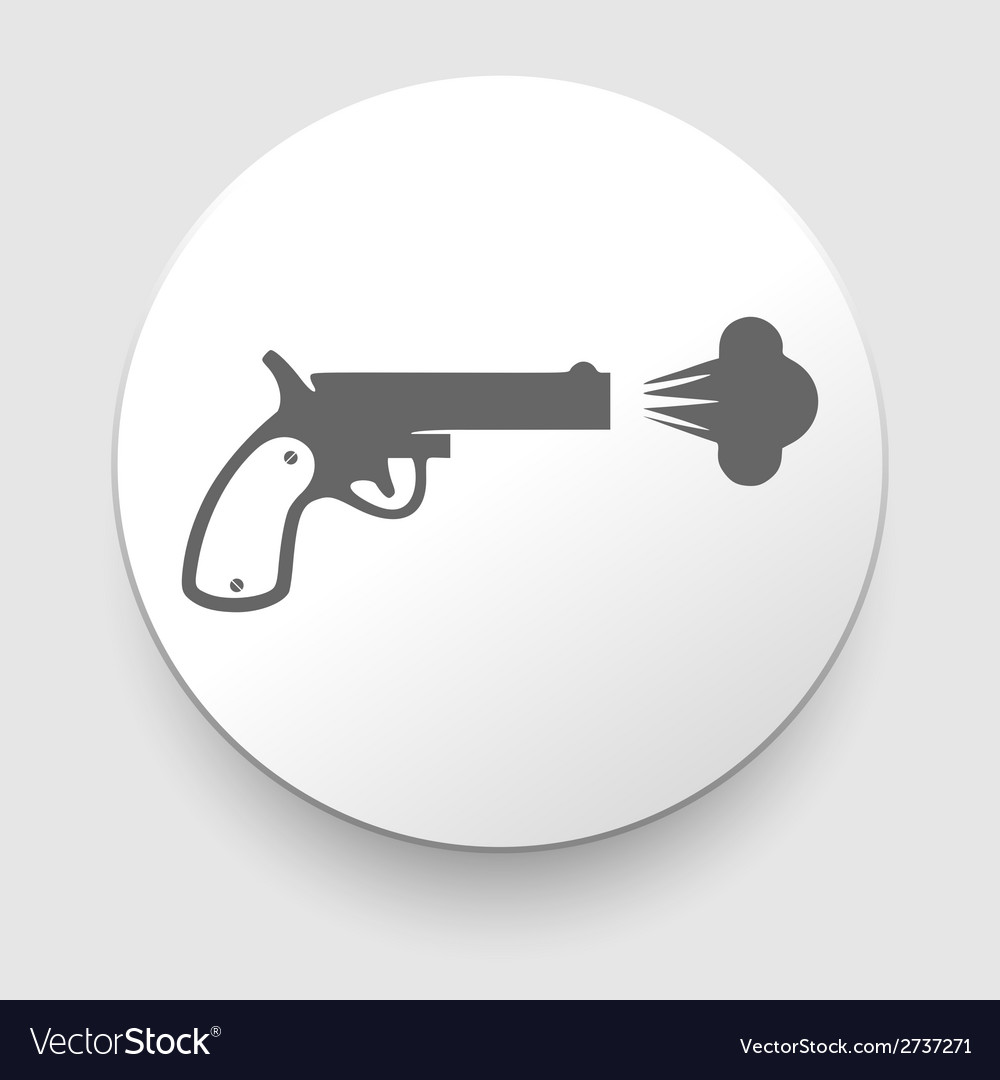 Revolver icon on white background vector | Price: 1 Credit (USD $1)