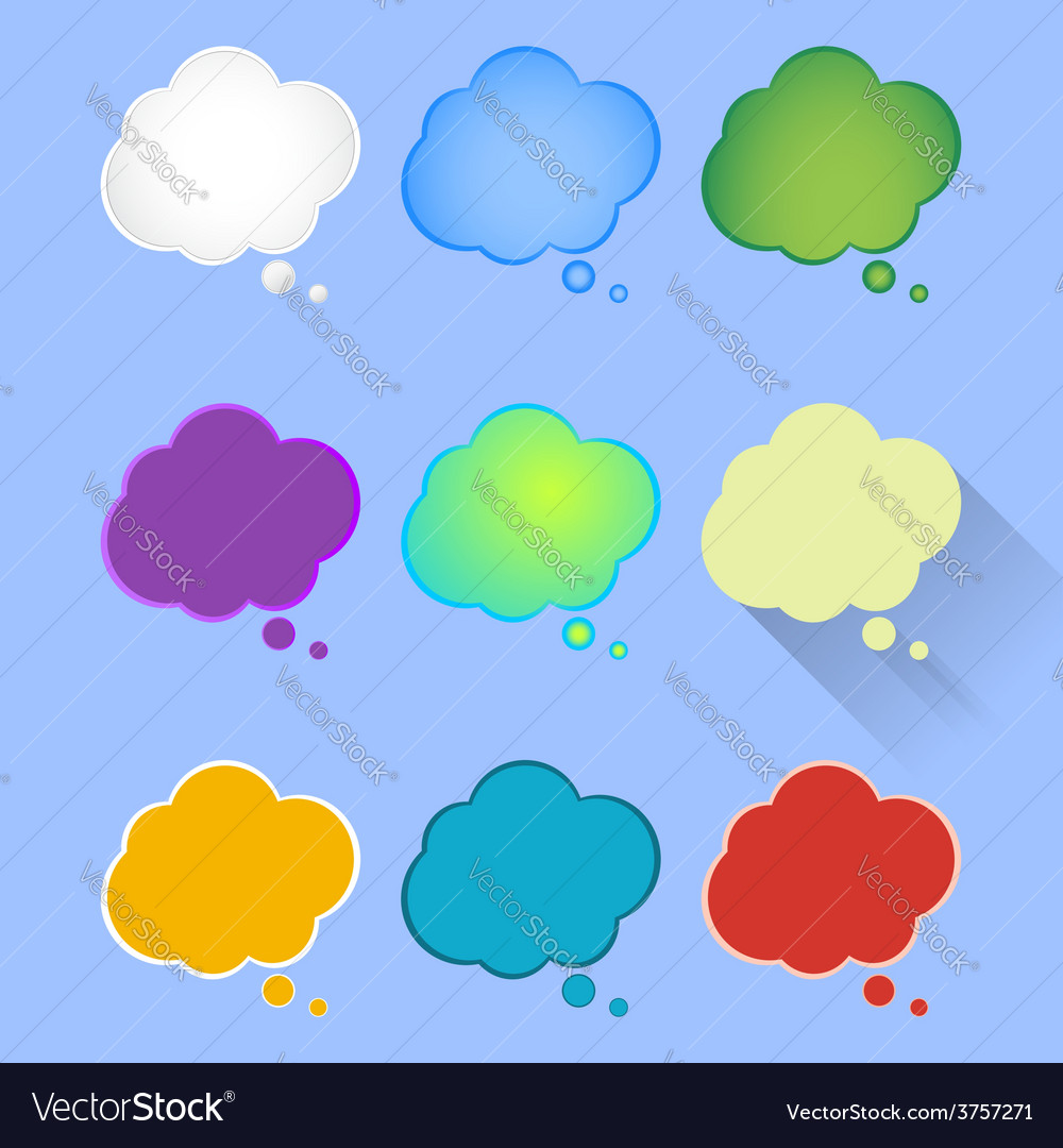 Set of multicolor of thought vector | Price: 1 Credit (USD $1)