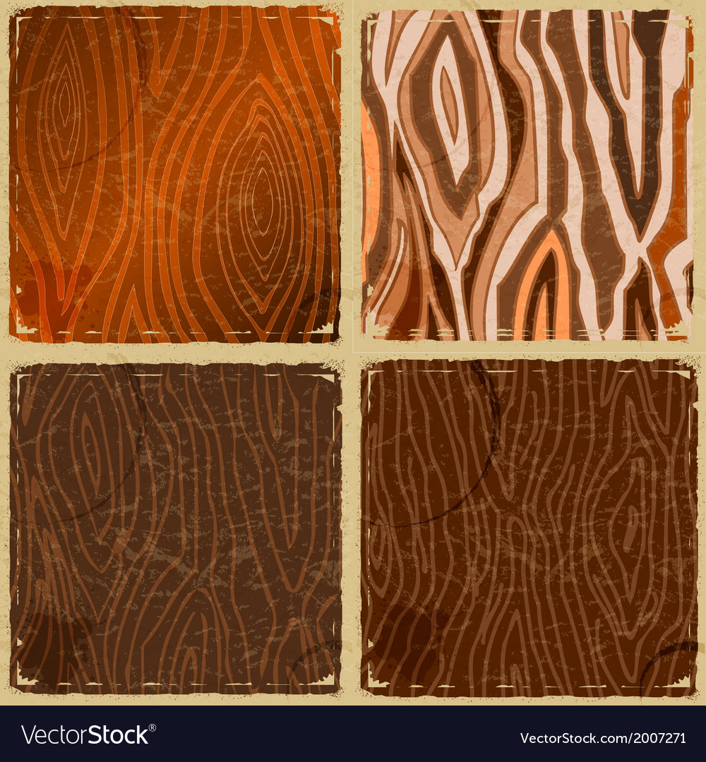 Set of vintage wooden plates in grunge style vector | Price: 1 Credit (USD $1)