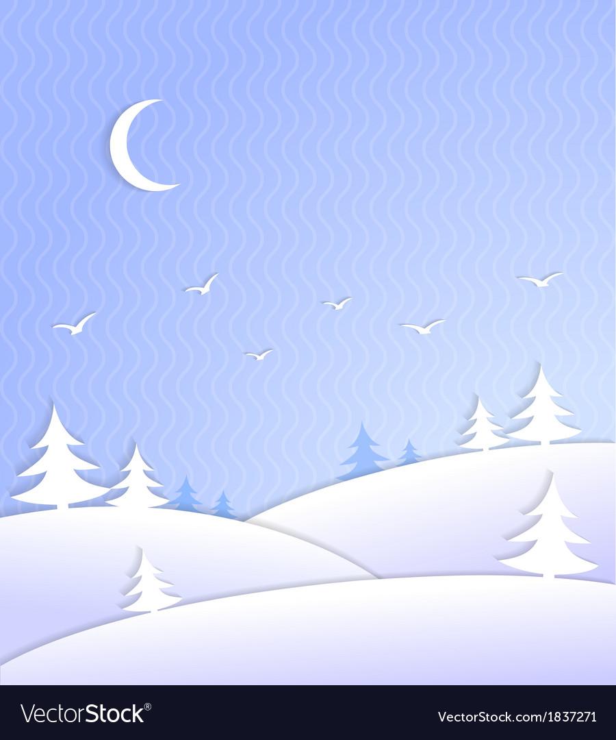 Winter background scene ice cold vector | Price: 1 Credit (USD $1)