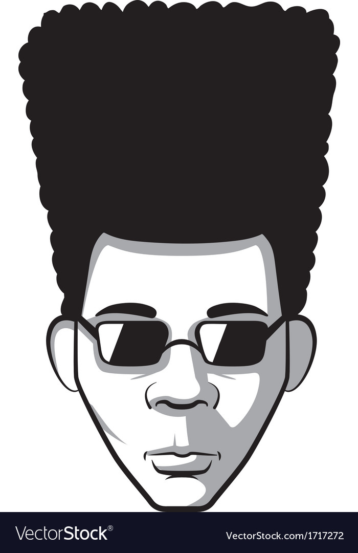 Afro man vector | Price: 1 Credit (USD $1)