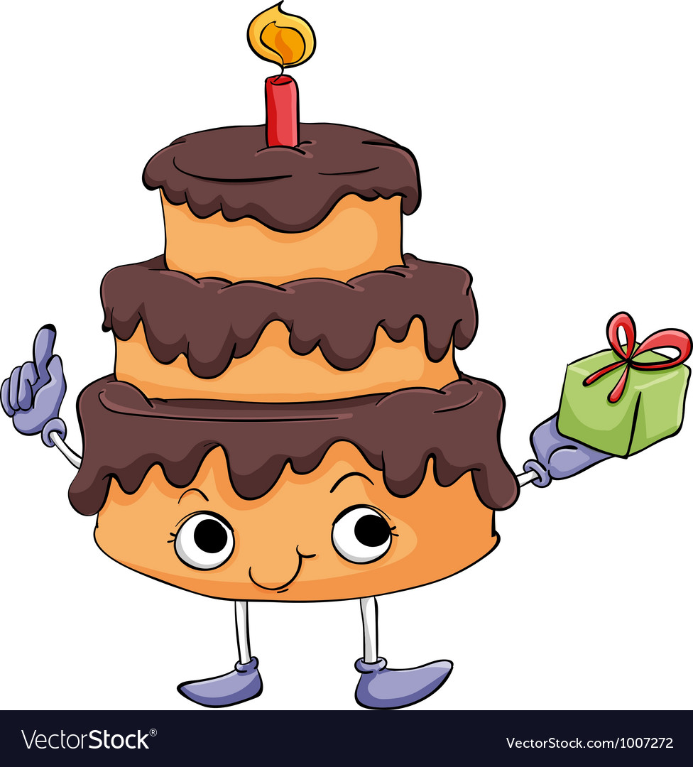Cartoon cake vector | Price: 3 Credit (USD $3)