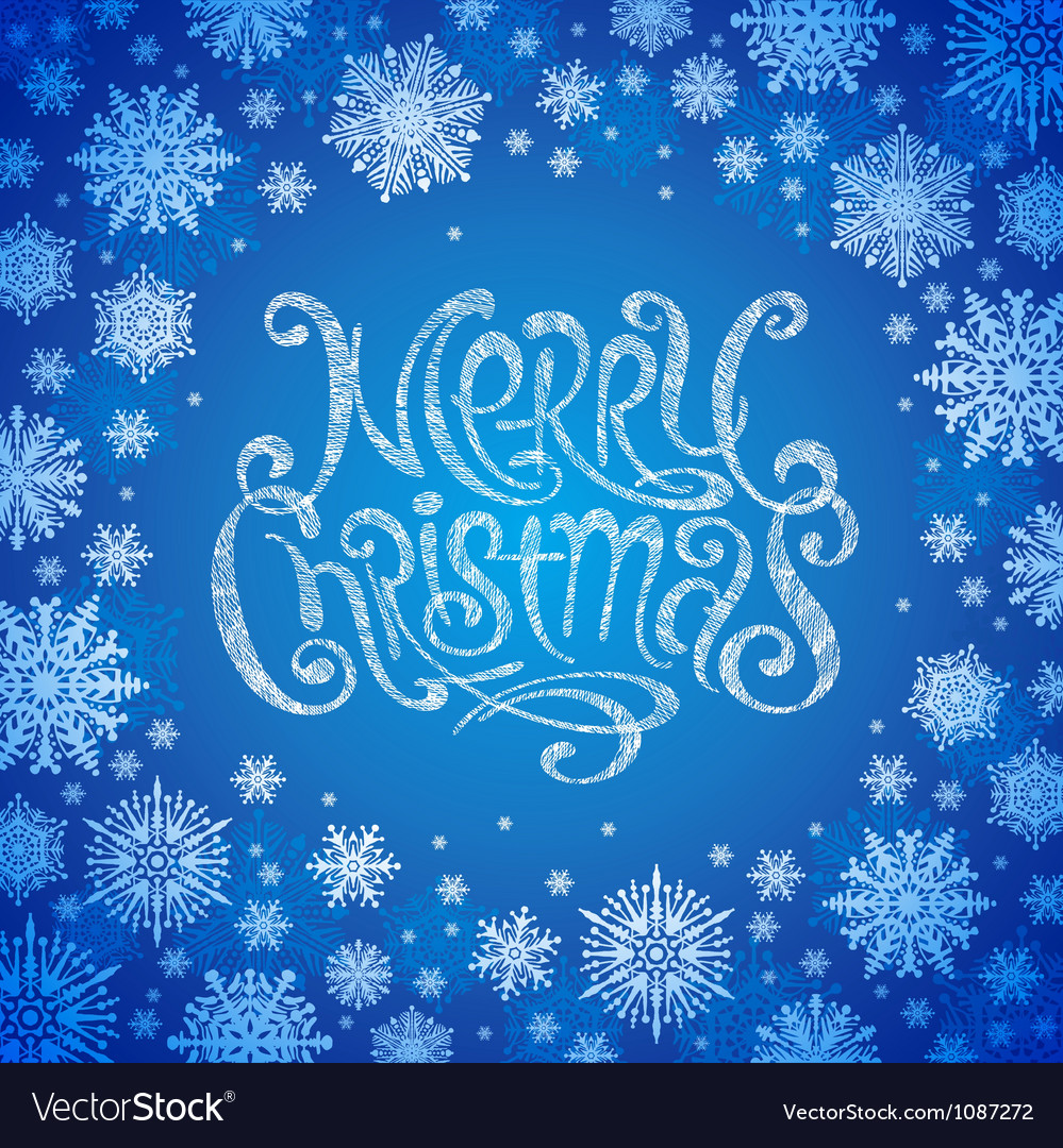 Christmas design with hand drawn greeting sign vector | Price: 1 Credit (USD $1)