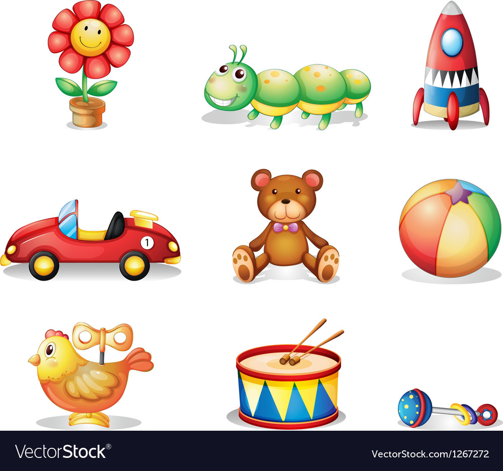 Different kinds of toys for children vector | Price: 1 Credit (USD $1)