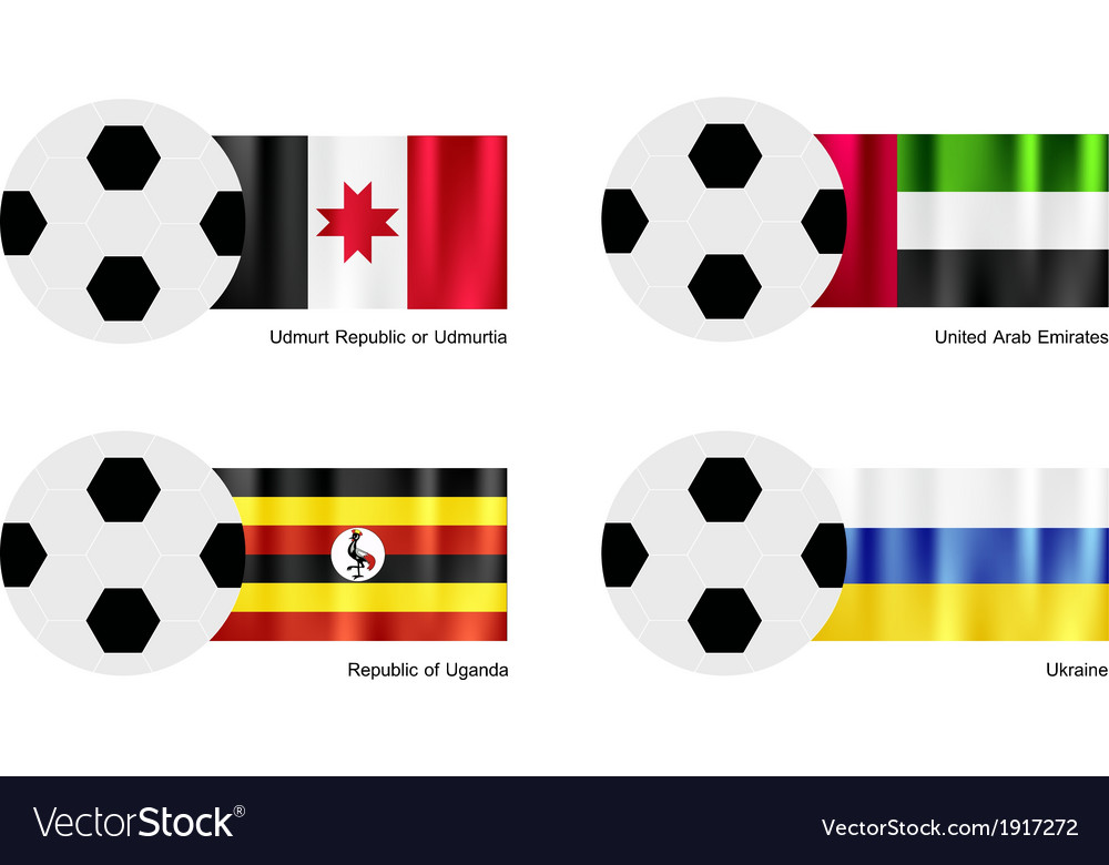 Football of udmurtia united arab emirates uganda vector | Price: 1 Credit (USD $1)