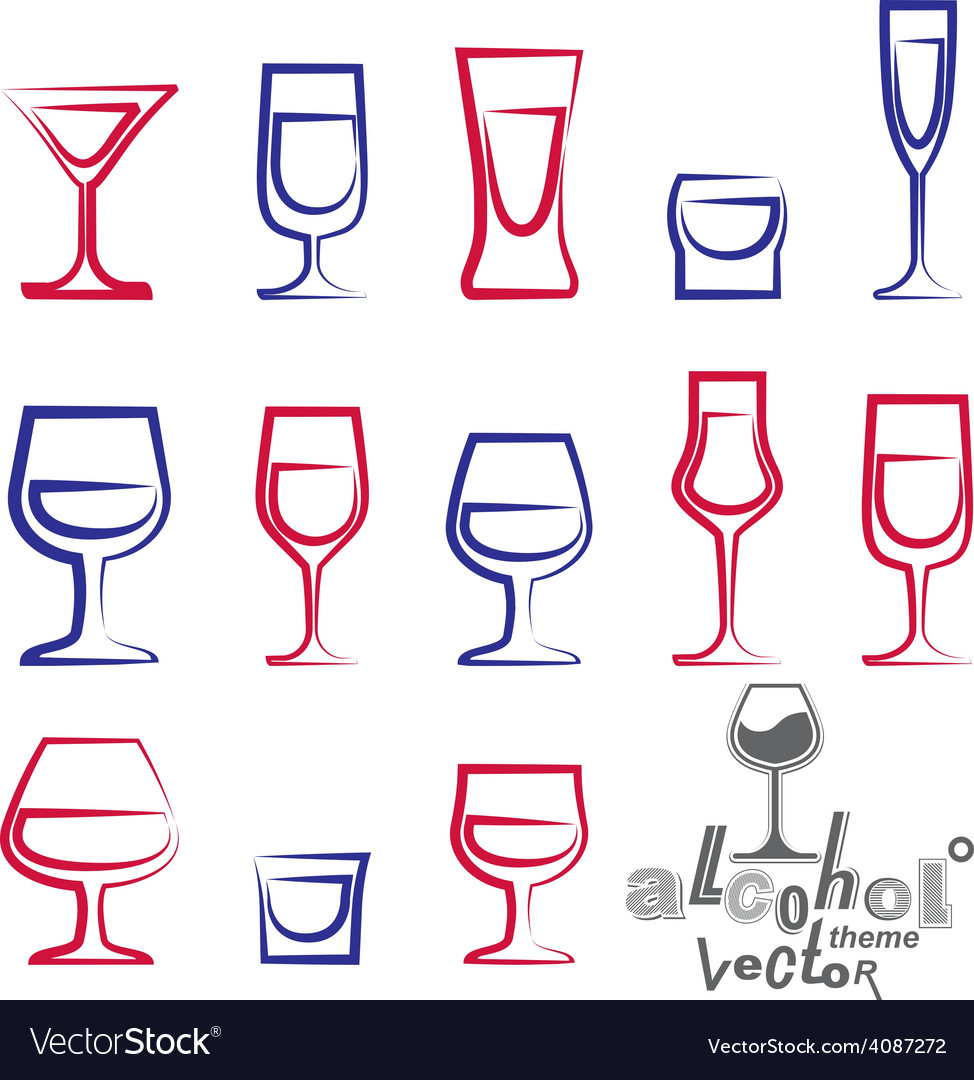 Glasses collection vector | Price: 1 Credit (USD $1)