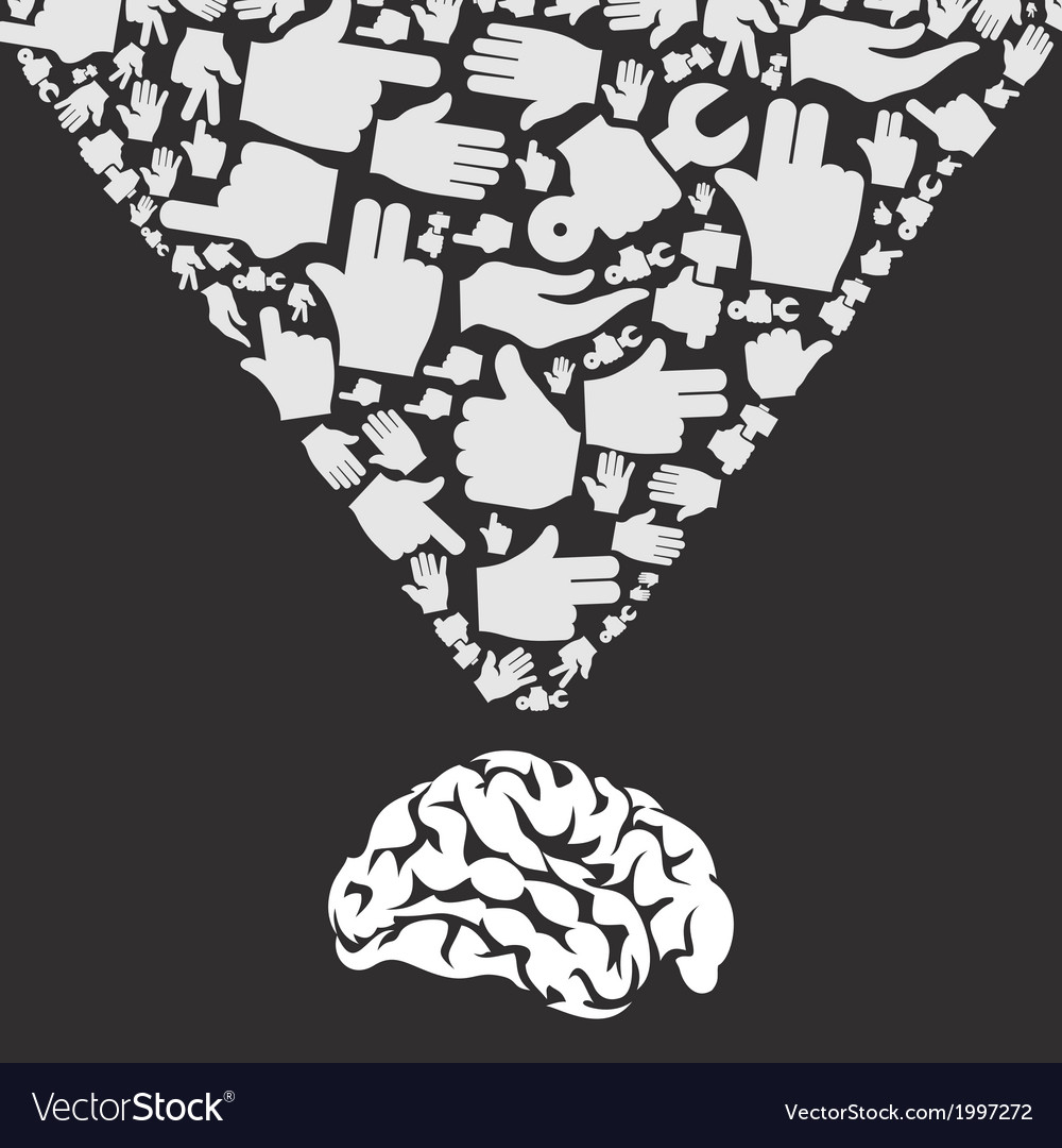 Hand from brain vector | Price: 1 Credit (USD $1)
