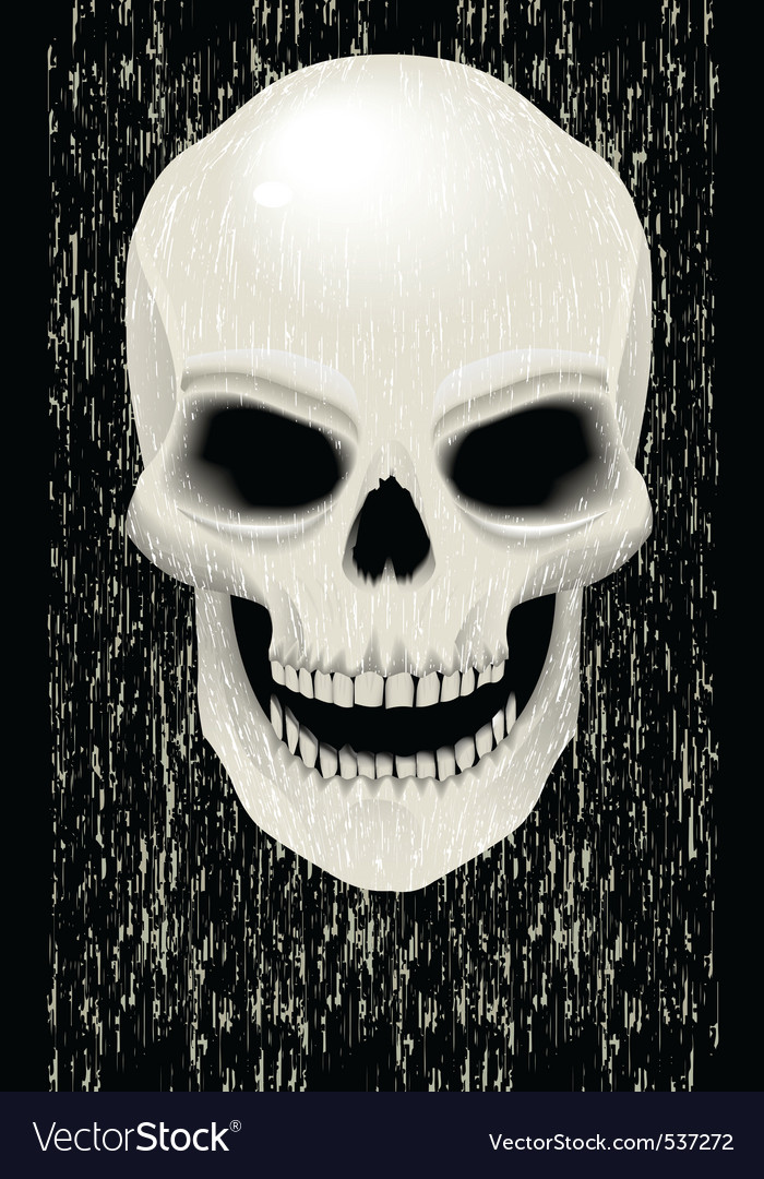 Human skull zombie vector | Price: 1 Credit (USD $1)