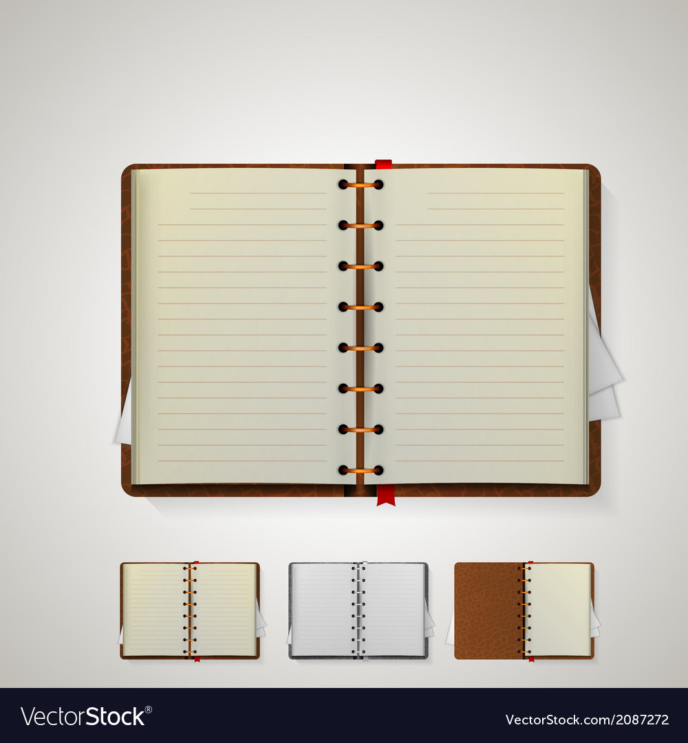 Notebooks vector | Price: 1 Credit (USD $1)