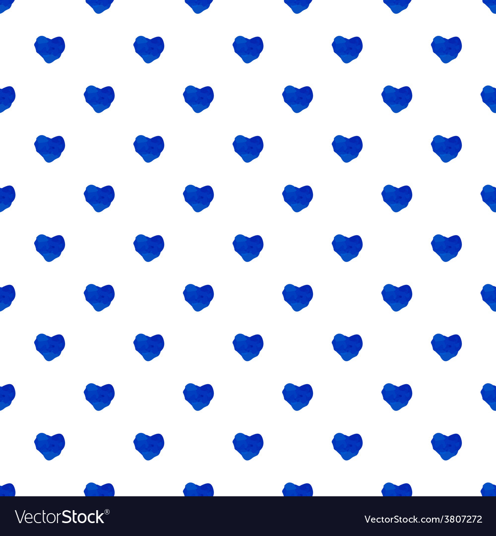 Watercolor seamless pattern with hearts vector   Price: 1 Credit (USD $1)