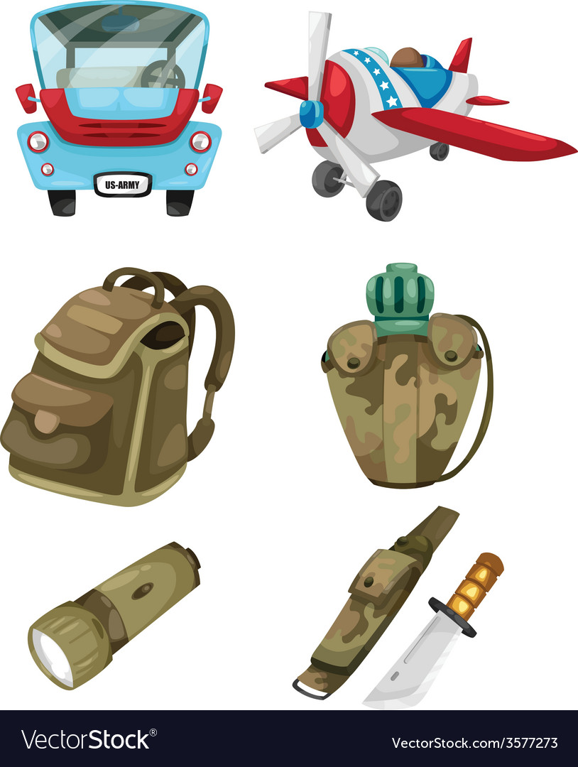 Army set vector | Price: 1 Credit (USD $1)