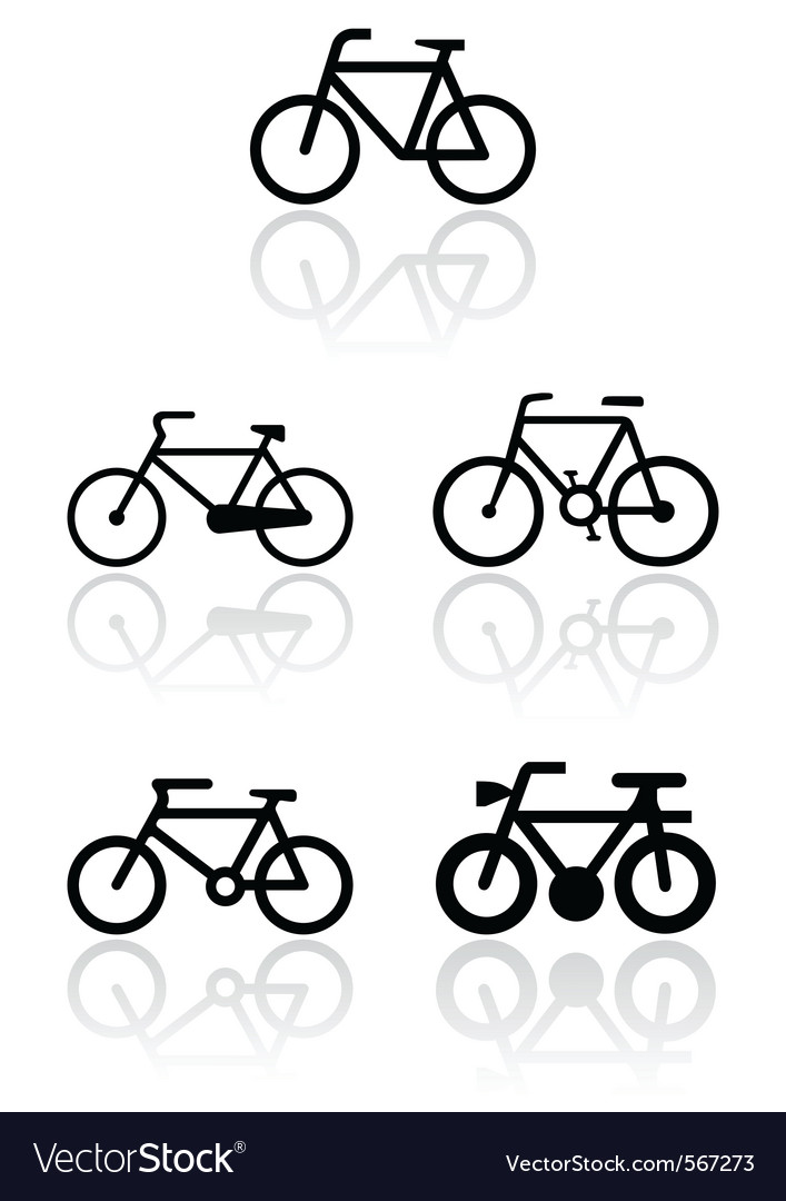Bike symbol set vector | Price: 1 Credit (USD $1)