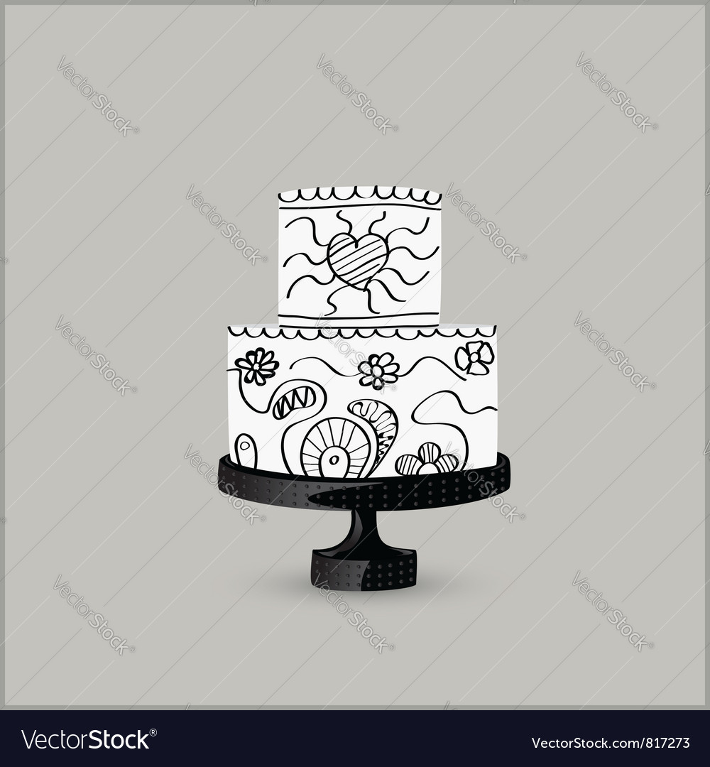 Cake black vector | Price: 1 Credit (USD $1)