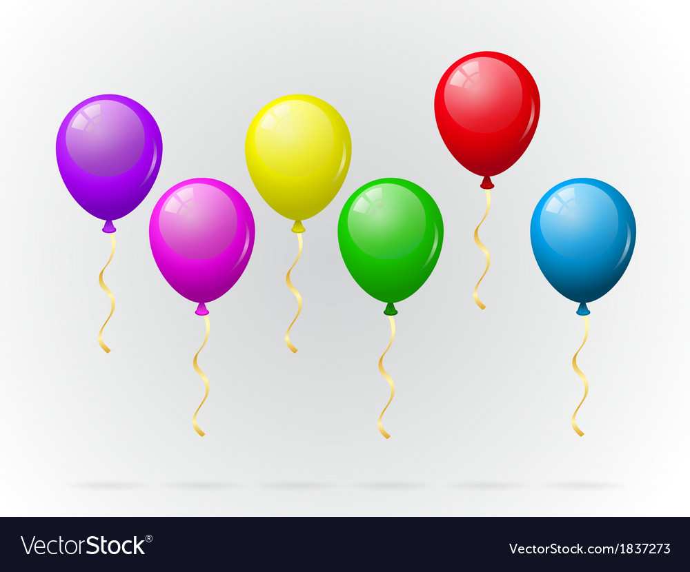 Colorful balloons pack vector | Price: 1 Credit (USD $1)