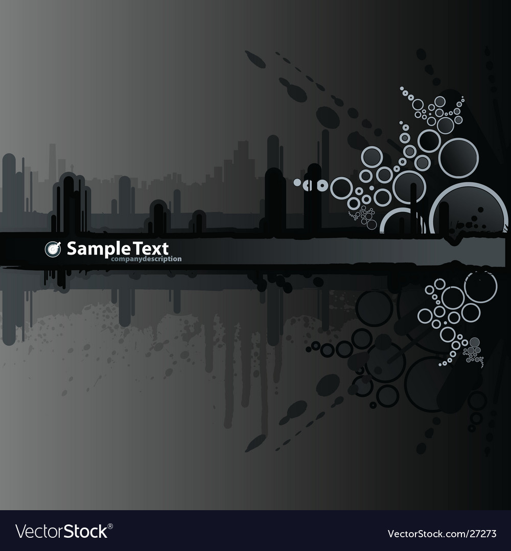 Dark splatter retro urban banner vector | Price: 1 Credit (USD $1)