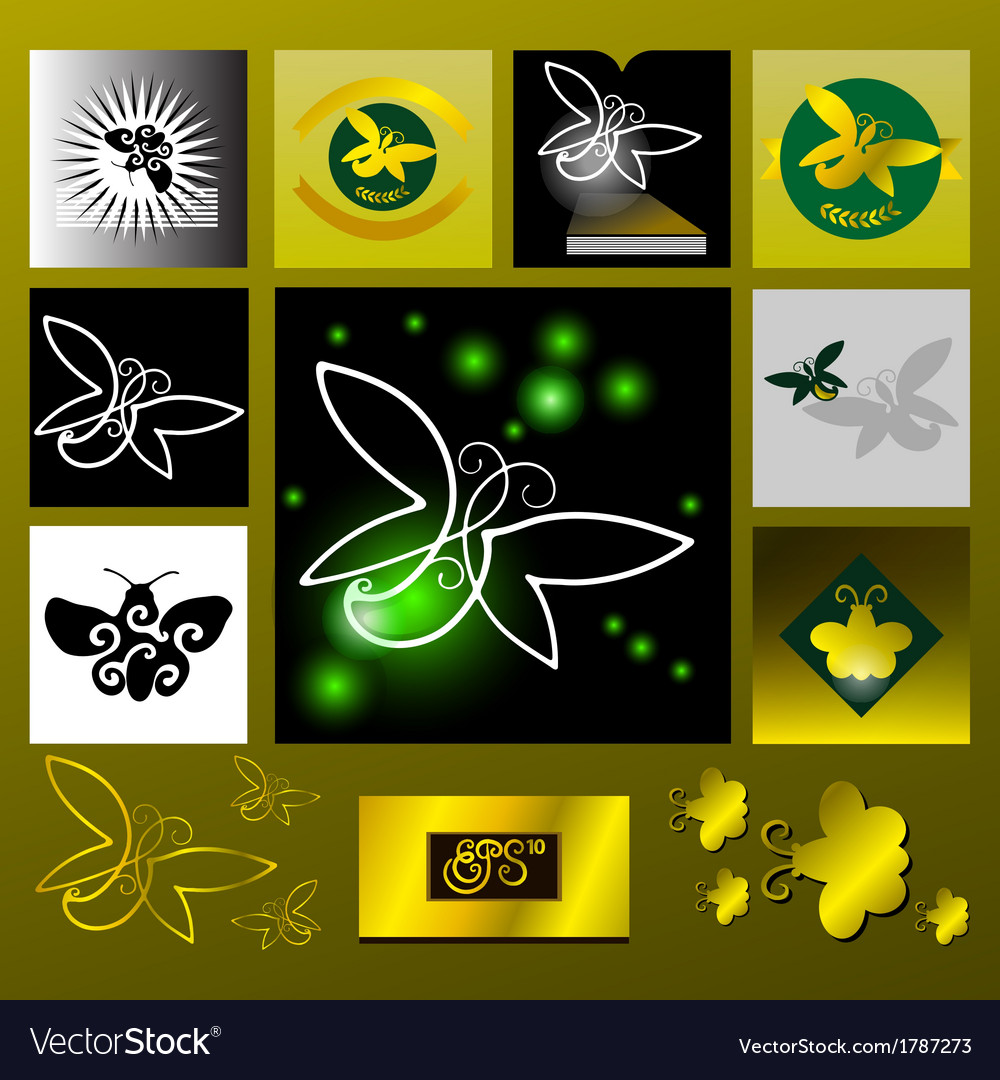 Glowworm golden light vector | Price: 1 Credit (USD $1)