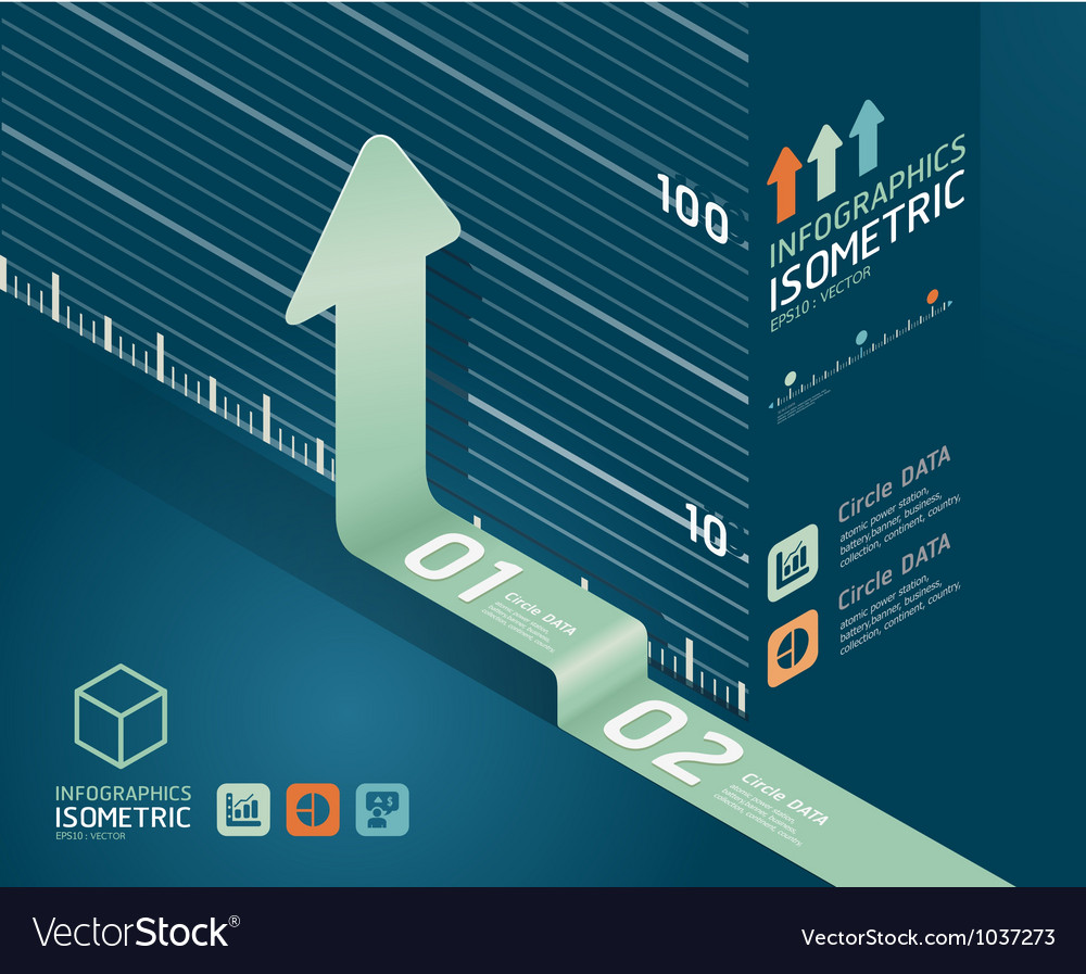 Infographic arrow diagram chart vector   Price: 1 Credit (USD $1)