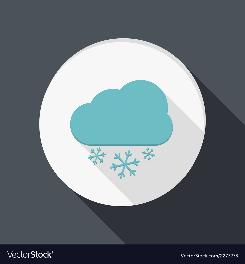 Paper flat icon cloud snow vector | Price: 1 Credit (USD $1)