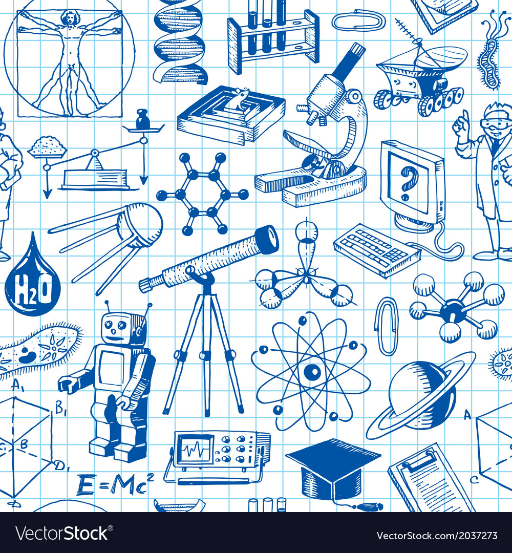 Science and education seamless pattern vector | Price: 1 Credit (USD $1)