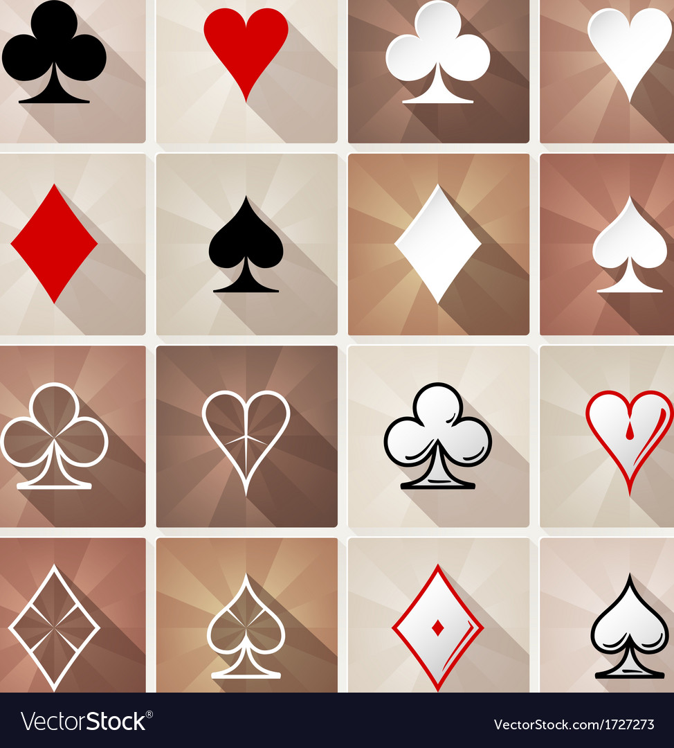 Stylish card suit icons vector | Price: 1 Credit (USD $1)