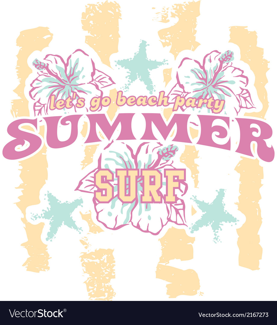 Summer beach party vector | Price: 1 Credit (USD $1)