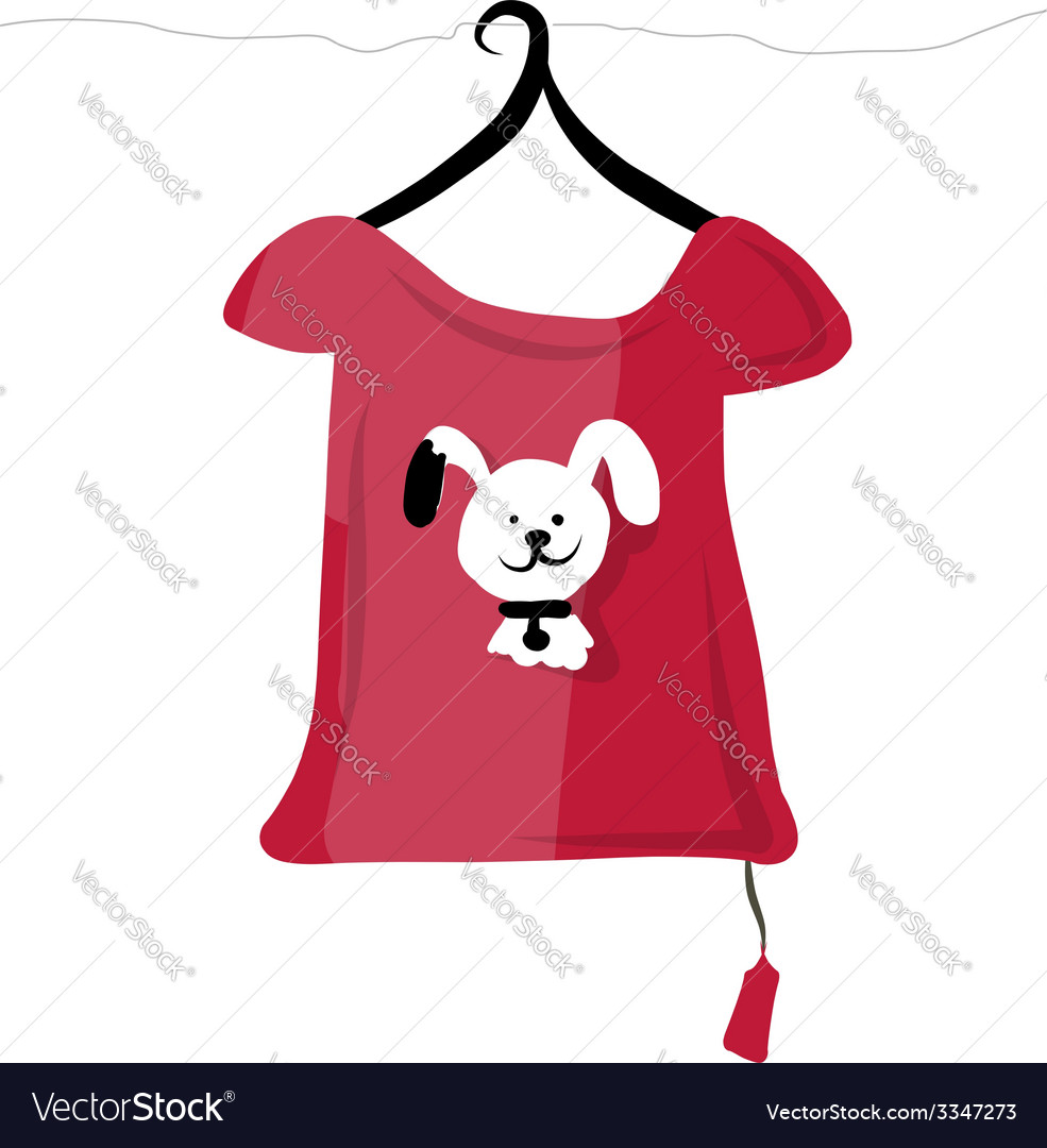 Top on hangers with funny animal design vector | Price: 1 Credit (USD $1)
