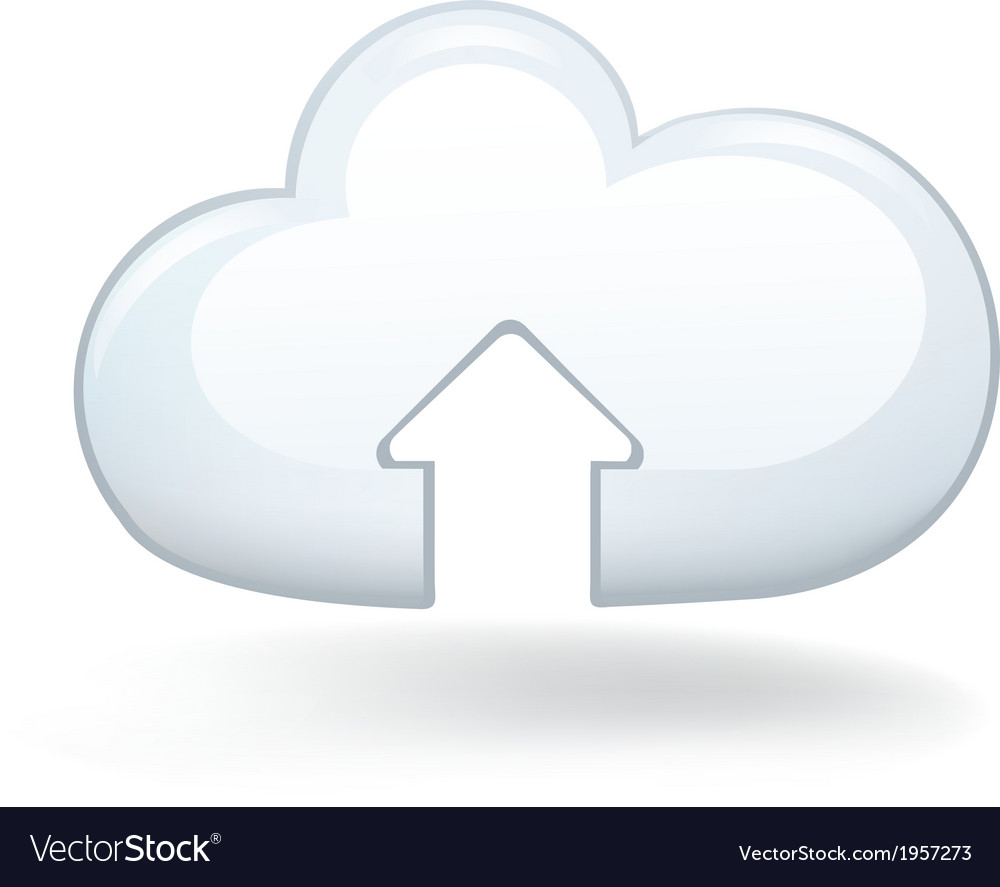 Upload cloud vector | Price: 1 Credit (USD $1)