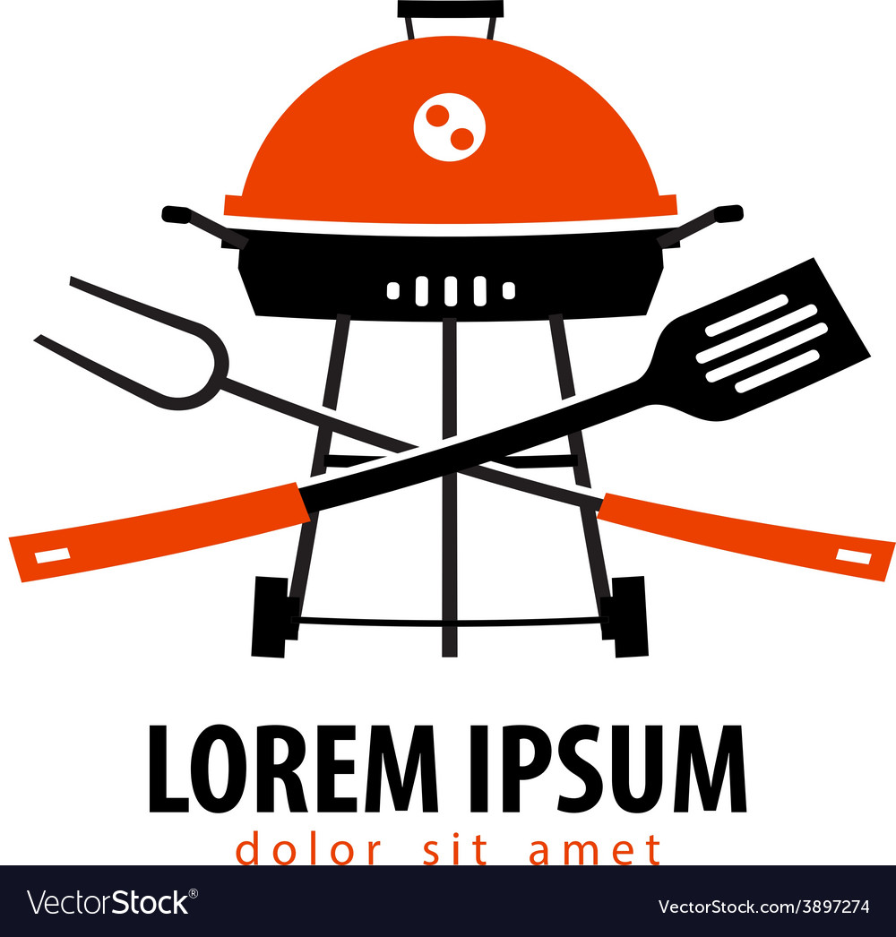 Barbecue logo design template grill or vector | Price: 1 Credit (USD $1)