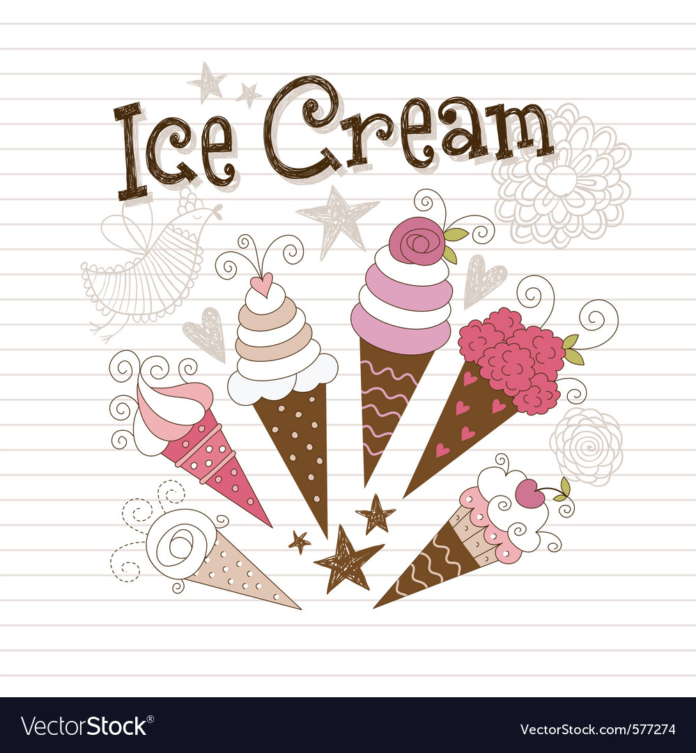 Beauty ice cream vector | Price: 1 Credit (USD $1)