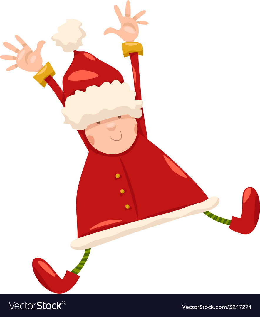 Boy santa claus christmas cartoon vector | Price: 1 Credit (USD $1)