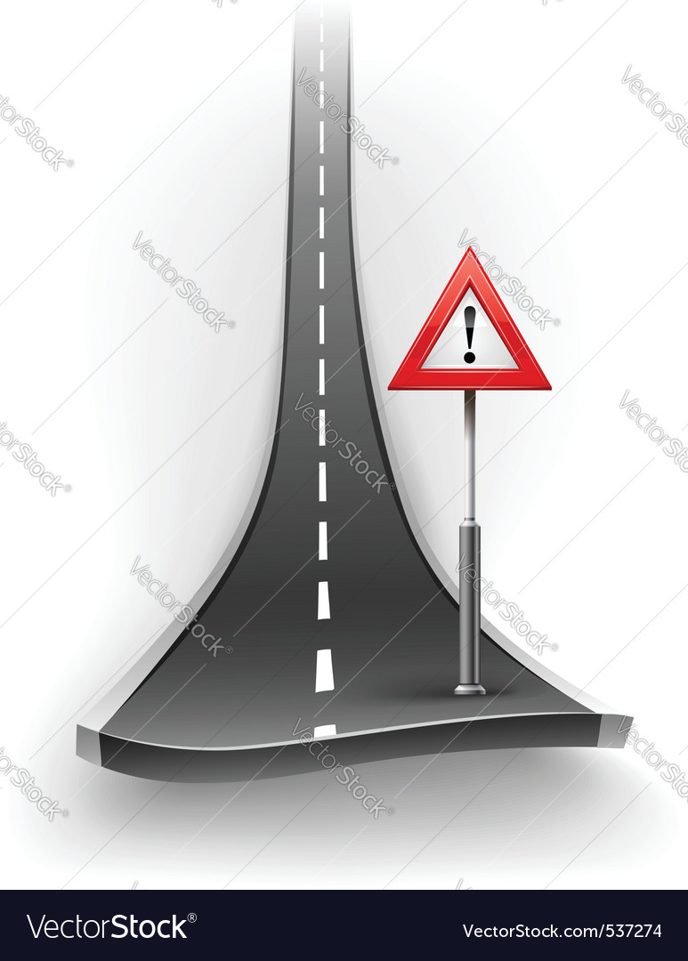Break of asphalt road with vector | Price: 3 Credit (USD $3)