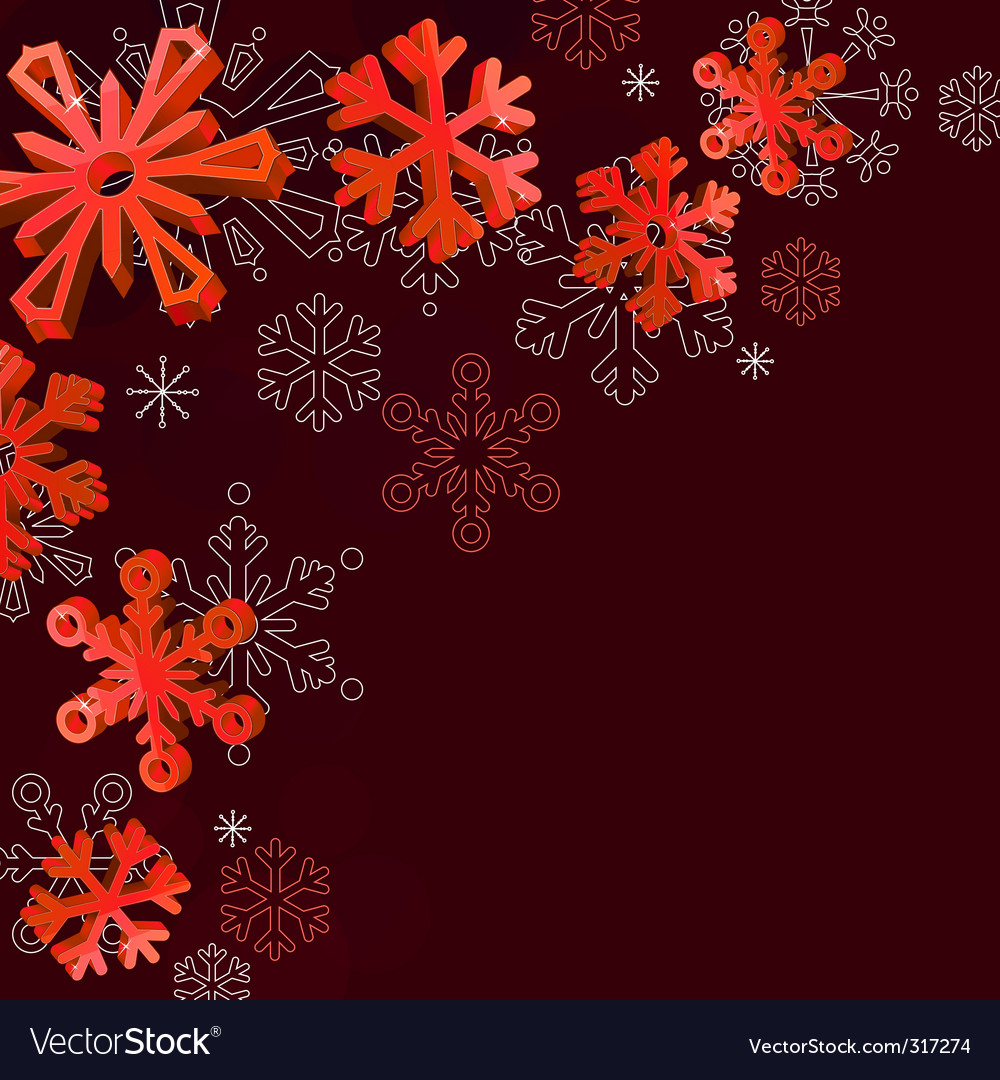 Christmas elegant red background vector | Price: 1 Credit (USD $1)