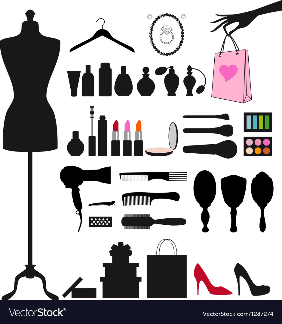 Fashion and beauty set vector | Price: 1 Credit (USD $1)