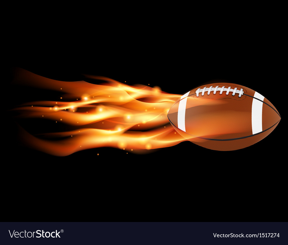 Flaming football vector | Price: 1 Credit (USD $1)