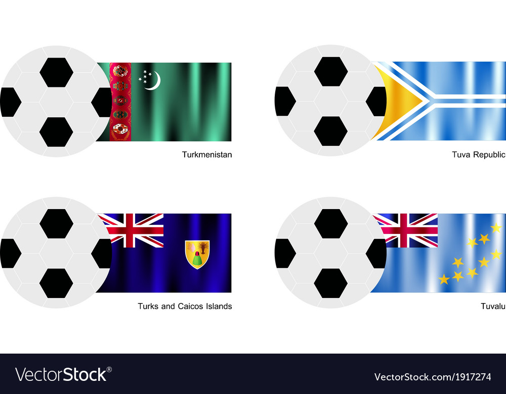Football of turkmenistan tuva turks and caicos vector | Price: 1 Credit (USD $1)