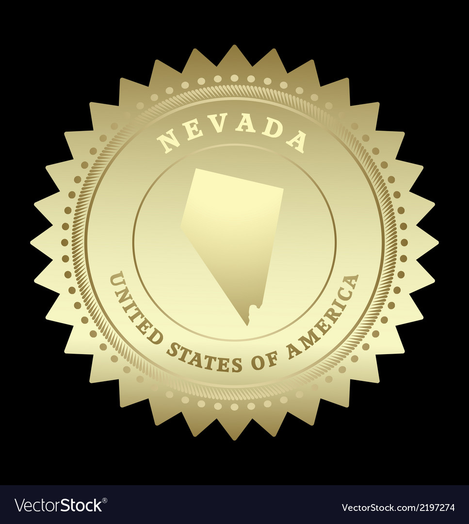 Gold star label nevada vector | Price: 1 Credit (USD $1)