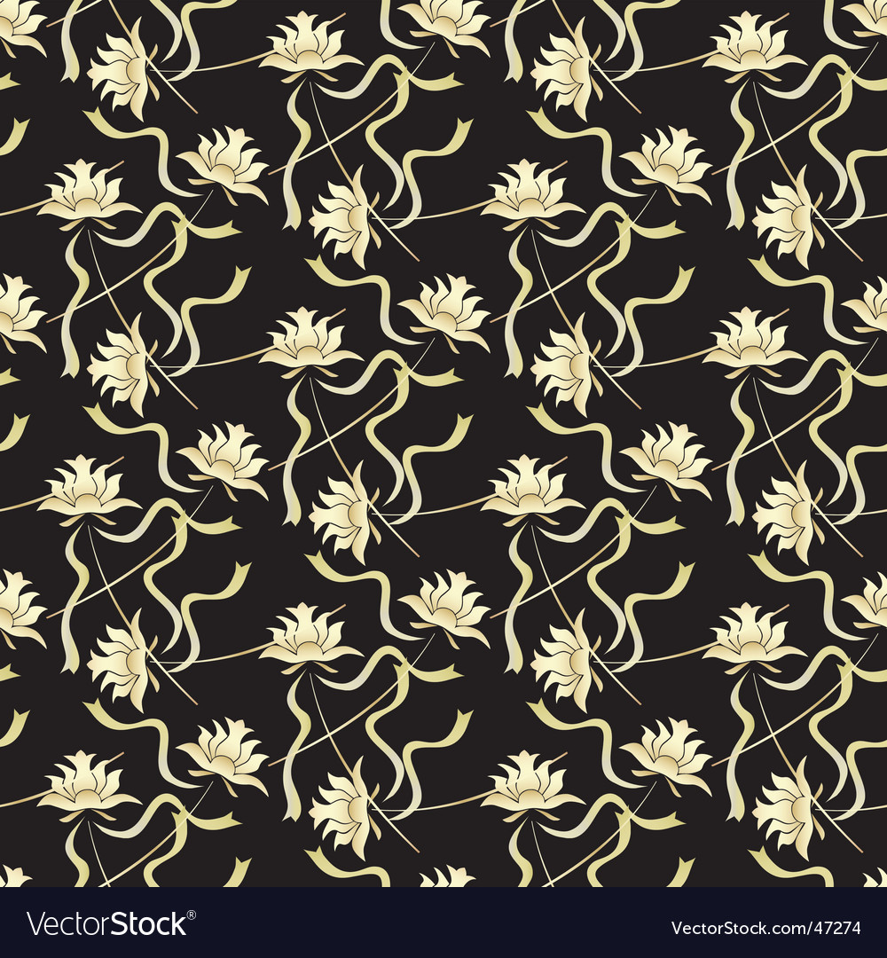 Seamless background with black gold vector | Price: 1 Credit (USD $1)