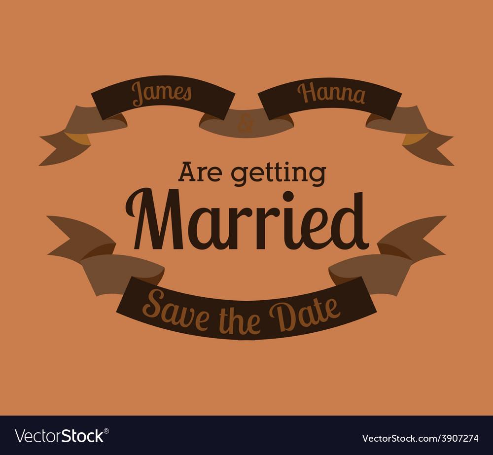 Wedding design over orange background vector   Price: 1 Credit (USD $1)