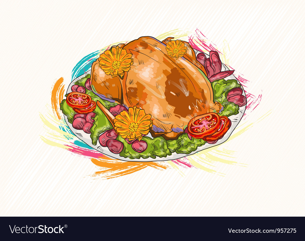 Cooked chicken vector | Price: 1 Credit (USD $1)