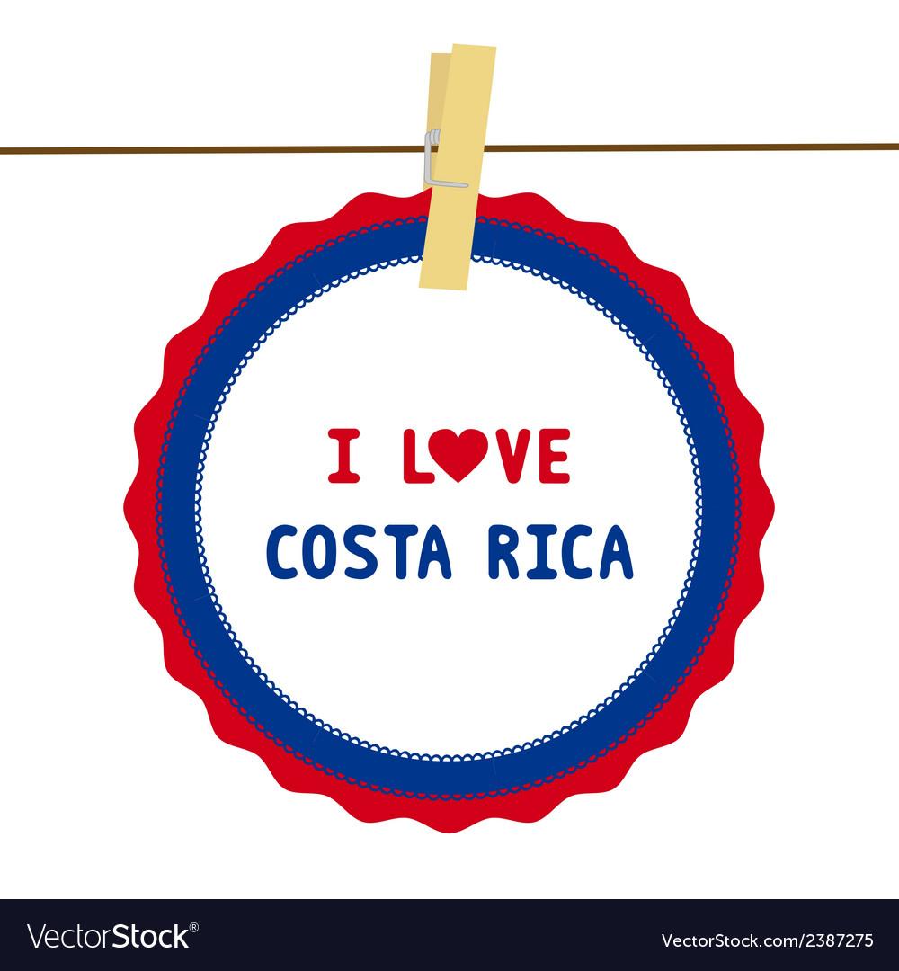 I love costa rica4 vector | Price: 1 Credit (USD $1)