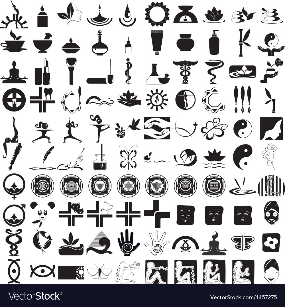 Icons black on white background vector | Price: 3 Credit (USD $3)