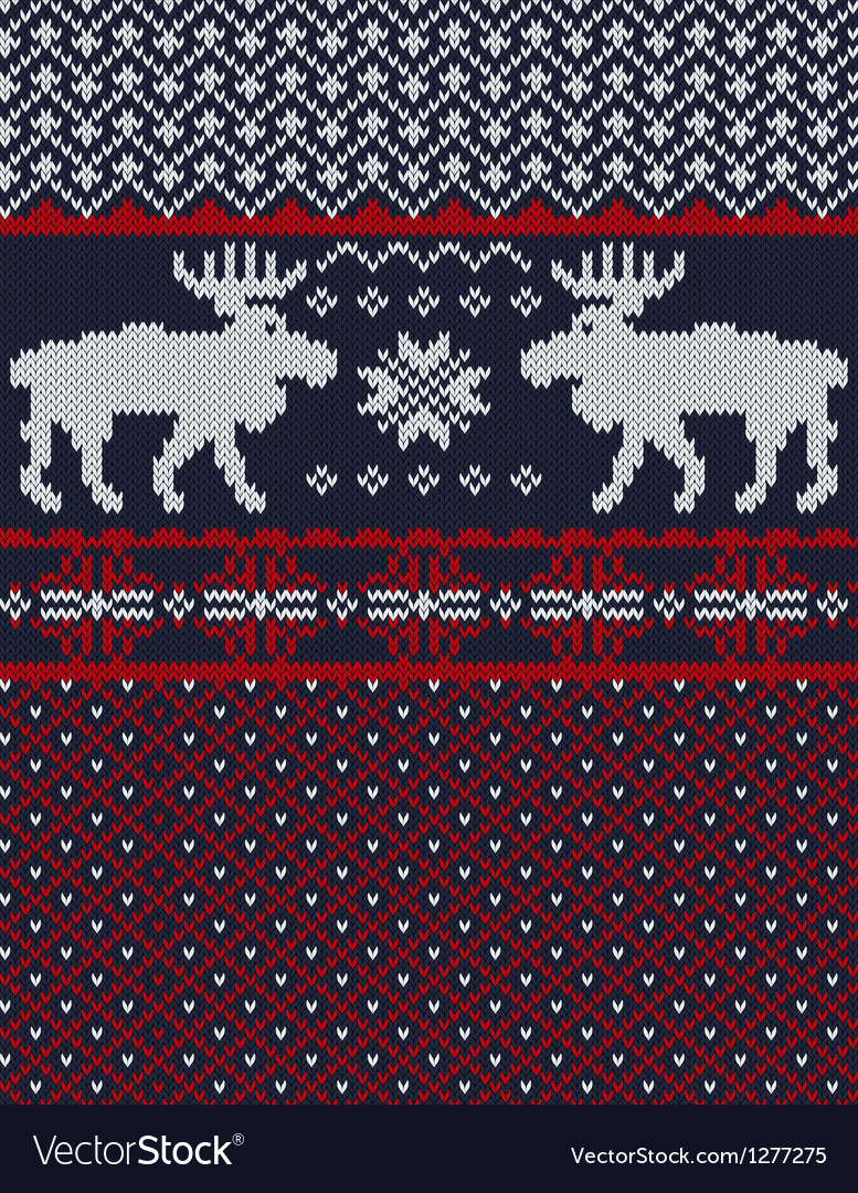 Knitted background with christmas deers and vector   Price: 1 Credit (USD $1)